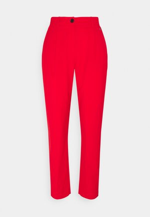 LOGO WAISTBAND CIGARETTE PANT - Trousers - red glare