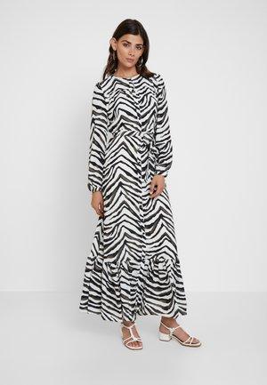 BUTTON DOWN ANIMAL - Maxi dress - vzebra print