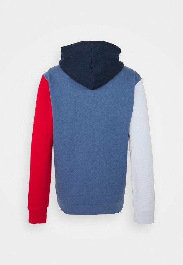 adidas Originals BLOCKED UNISEX - Bluza z kapturem - crew blue/halo/scarlet/niebieski Odzież Męska IMNO
