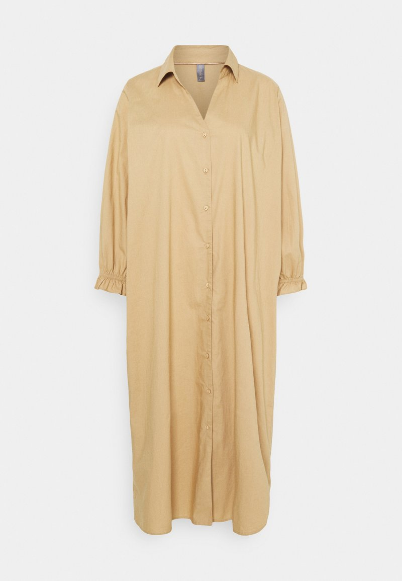 Culture - OLENA DRESS - Shirt dress - tannin