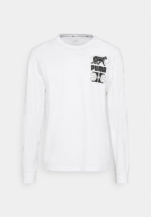 PARQUET GRAPHIC TEE - Long sleeved top - white