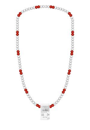 Necklace - weiß/rot