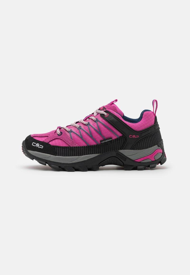 CMP - RIGEL LOW TREKKING SHOE WP - Hiking shoes - malva/blue