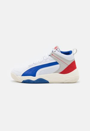 REBOUND FUTURE EVO UNISEX - Höga sneakers - white/surf the web/high risk red/gray violet