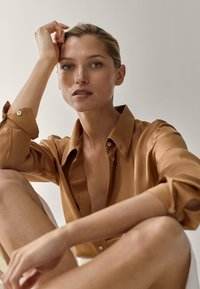 Massimo Dutti - Button-down blouse - gold - 4