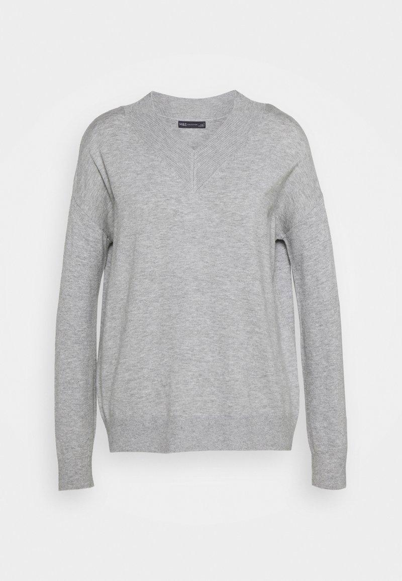 Marks & Spencer London - HIGH VEE - Sweter - grey