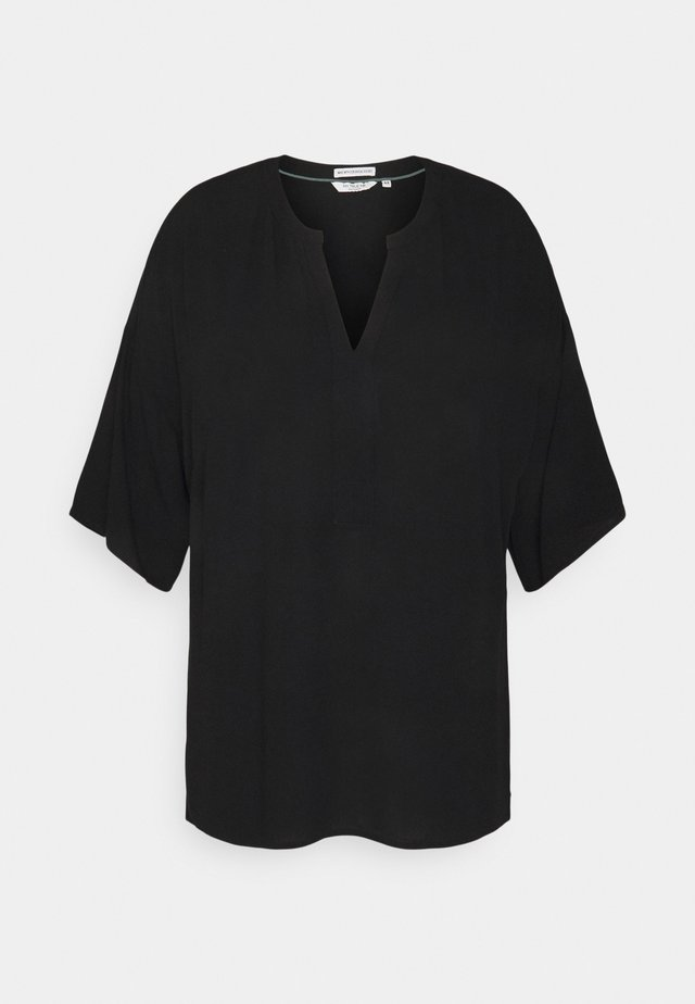 BLOUSE TUNIC - Blouse - deep black