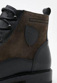 Cordwainer - Lace-up ankle boots - orleans black/venezia piombo - 3