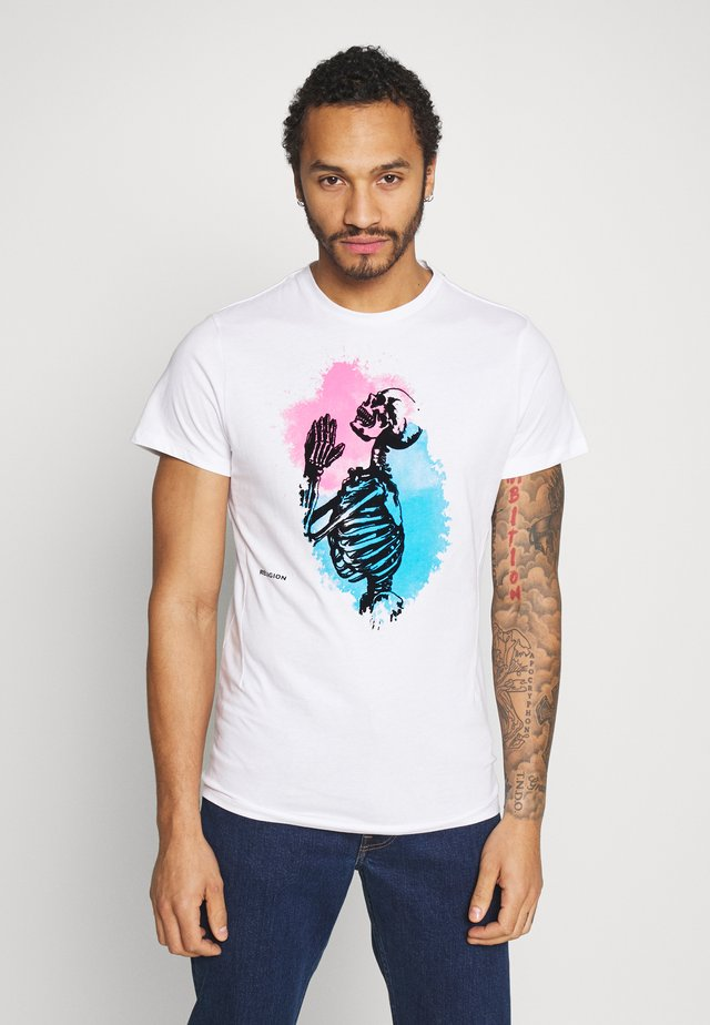 SPLASH TEE - T-shirt imprimé - white