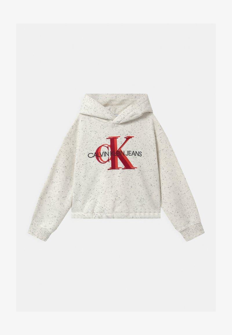 Calvin Klein Jeans - OVERLAPPING MONOGRAM BOXY HOODIE - Hoodie - beige