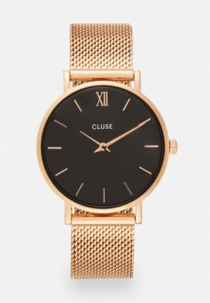 MINUIT - Klokke - rose gold-coloured/black