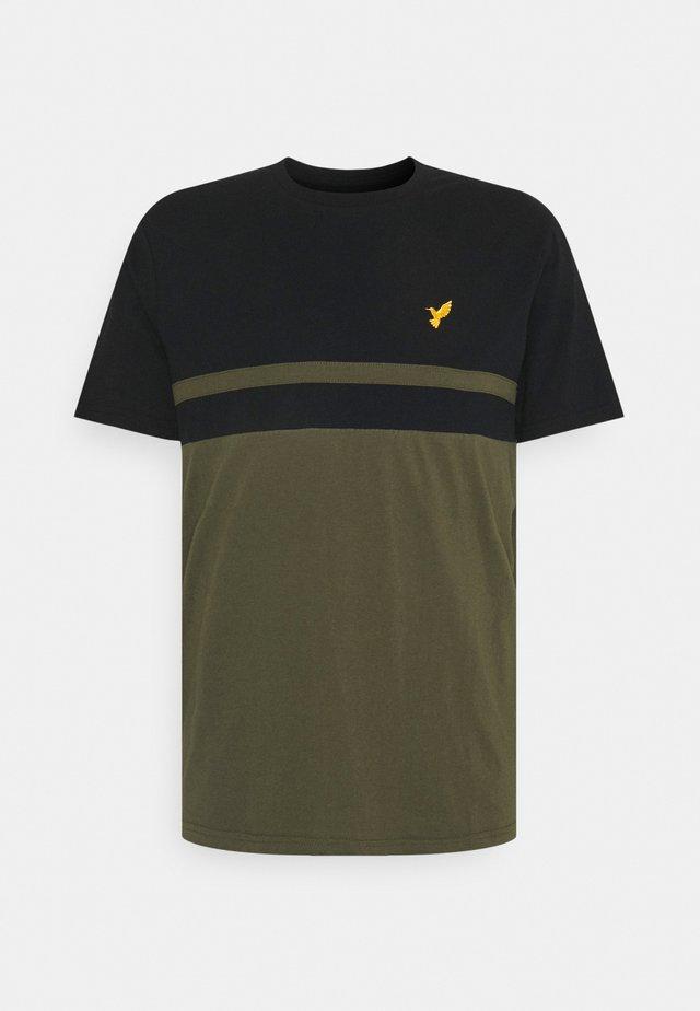 Print T-shirt - black / olive