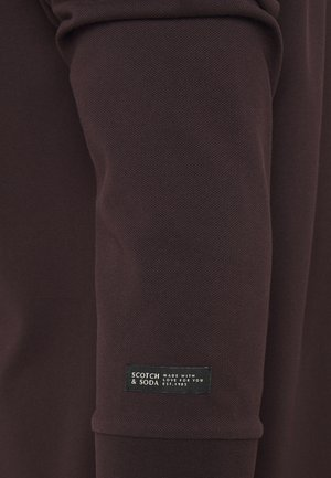 CHIC STRETCH LONGSLEEVE - Poloshirt - bordeaubergine