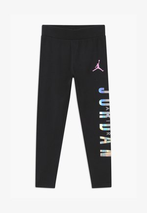COLOR BLOCKED UNISEX - Legging - black