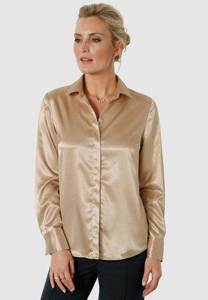 Button-down blouse - goldfarben