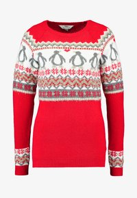 Dorothy Perkins Tall - FAIRISLE TINSLE PENGUIIN - Jumper - red - 3