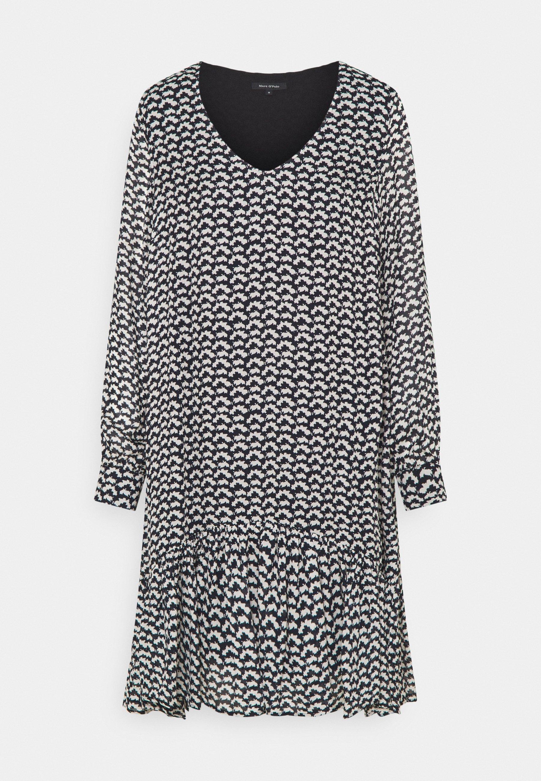 Women DRESS FLUENT SHORT STYLE V NECK - Day dress
