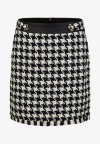 s.Oliver BLACK LABEL - MIT HAHNENTRITT-MUSTER - Pencil skirt - black houndstooth - 5