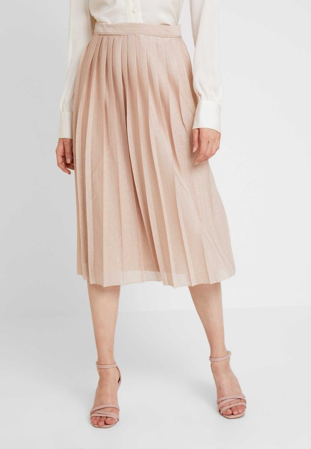 PIA PLEATS - A-line skirt - gold