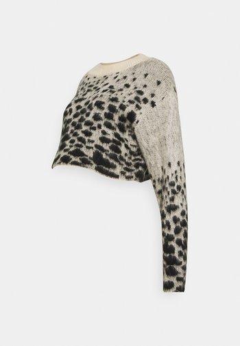 MLBLANCHE KNIT CROP TOP - Sweter - black