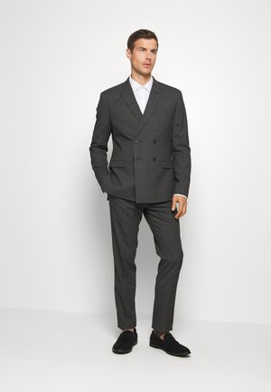 RECYCLED CHECK DOUBLE BREASTED SUIT - Traje - anthracite