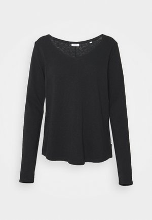 LONGSLEEVE V-NECK - Langarmshirt - black