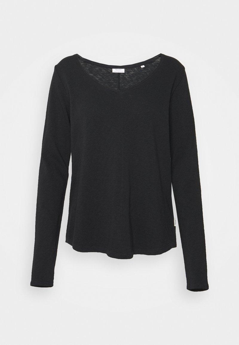 Marc O'Polo DENIM - LONGSLEEVE V-NECK - Long sleeved top - black