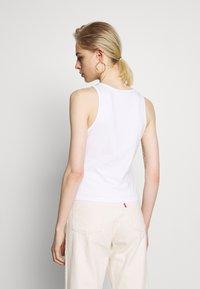 Calvin Klein Jeans - MONOGRAM STRETCH SPORTY TANK - Top - bright white - 2