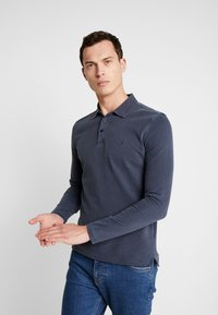 Marc O'Polo - LONG SLEEVE - Poloshirt - total eclipse - 0