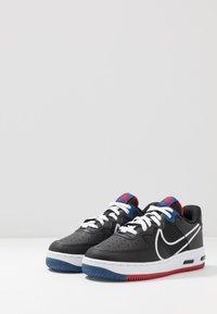 Nike Sportswear - AIR FORCE 1 REACT - Trainers - black/dark smoke grey/laser crimson/voltage purple - 2
