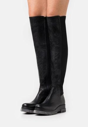 BIADEVINA LONG BOOT - Overknee laarzen - black