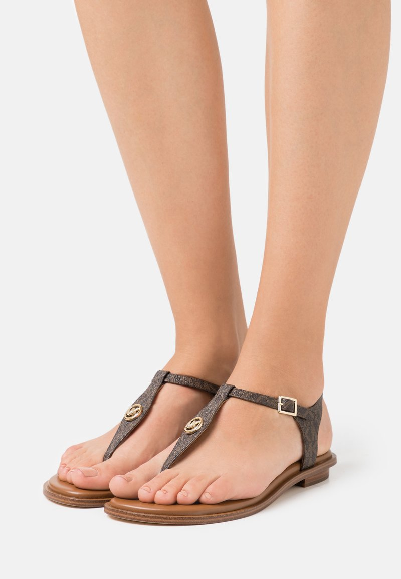 MICHAEL Michael Kors - MALLORY THONG - T-bar sandals - brown