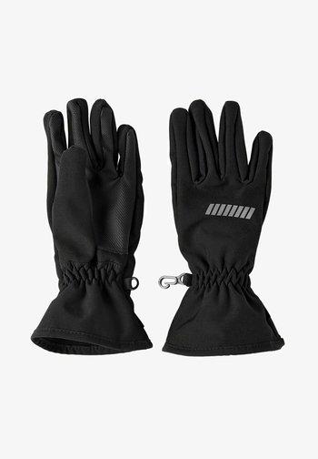 ALFA SOFTSHELL - Gloves - black