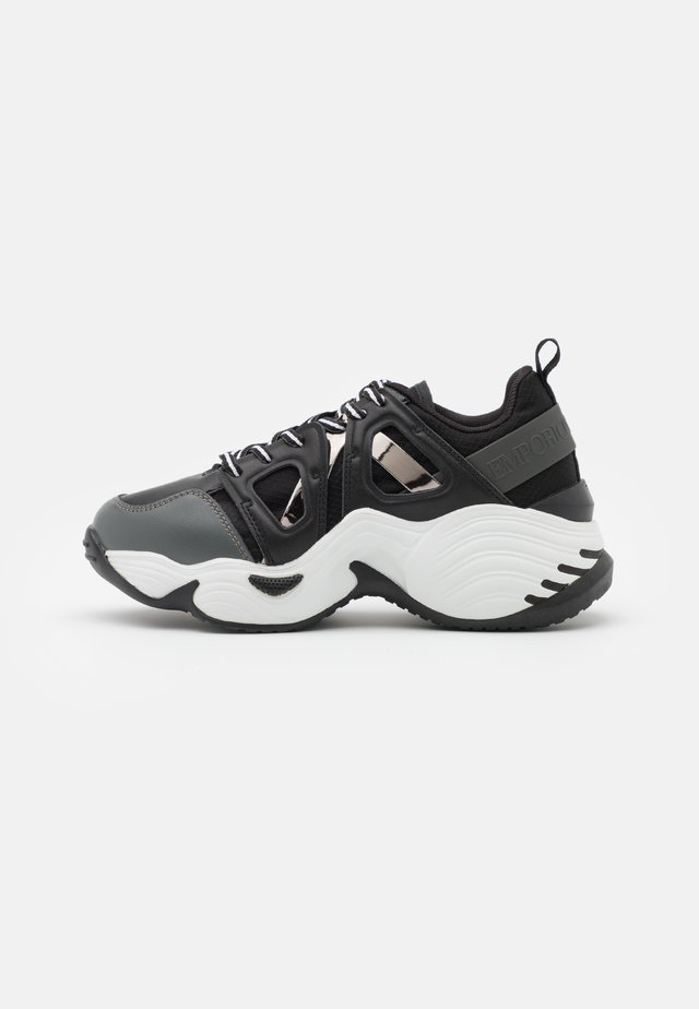 Sneakers laag - dark grey/black/gunmetal