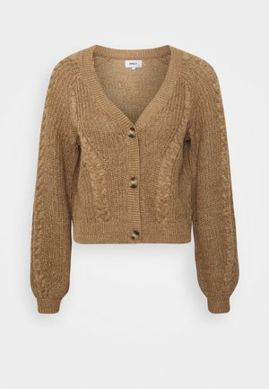 ONLROSIE LIFE - Strickjacke - toasted coconut/wood