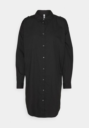 JDYPIPPA BOYFRIEND SHIRT DRESS - Skjortekjole - black