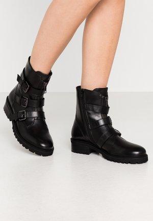 PENELOPE - Cowboy/biker ankle boot - black