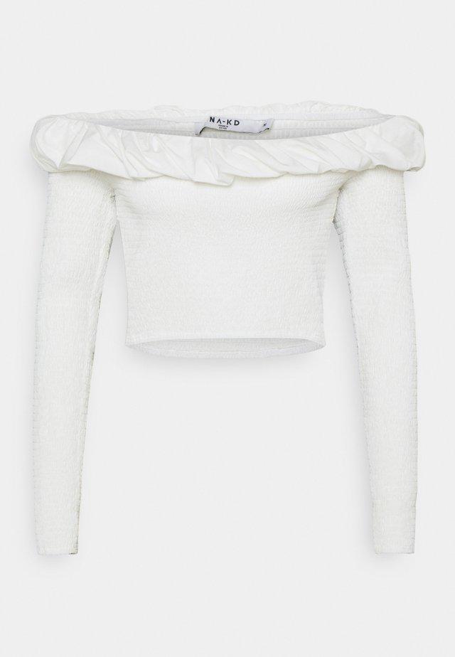 OFF SHOULDER  - Top sdlouhým rukávem - white