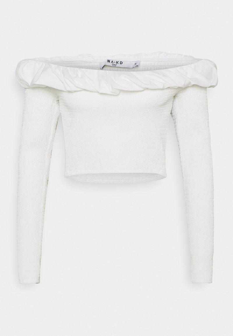 NA-KD - OFF SHOULDER  - Long sleeved top - white