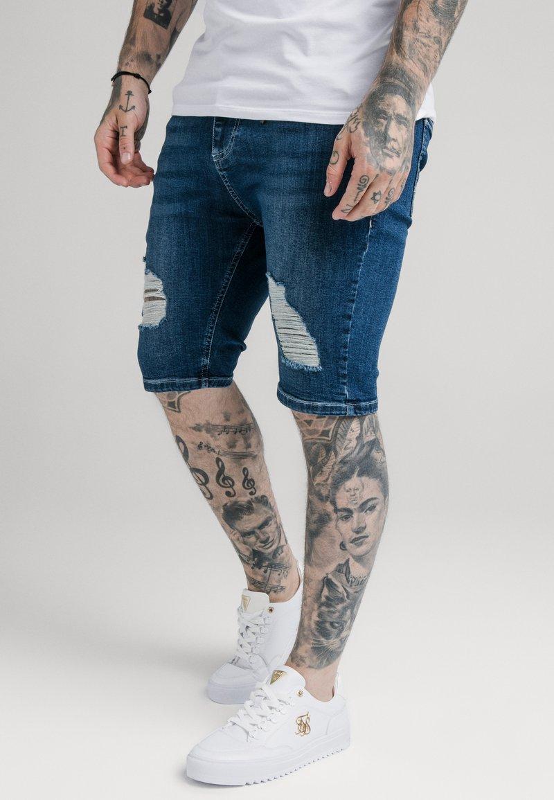 SIKSILK - Denim shorts - midstone