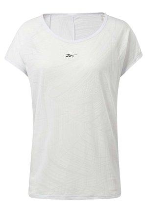 BURNOUT T-SHIRT - T-Shirt print - white