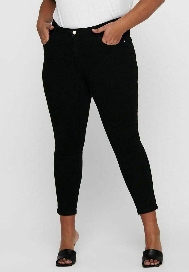 ONLY Carmakoma - SKINNY FIT CURVY CARANTE LIGE REG ANKLE PUS - Jeans Skinny Fit - black