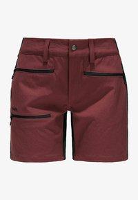 Haglöfs - Sports shorts - maroon red/true black - 4