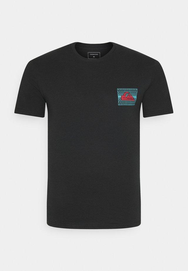SOUND WAVES - T-shirt imprimé - black