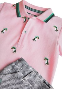 Next - PINK/BLUE TOUCAN POLO AND SHORTS SET (3MTHS-7YRS) - Shorts - pink - 5