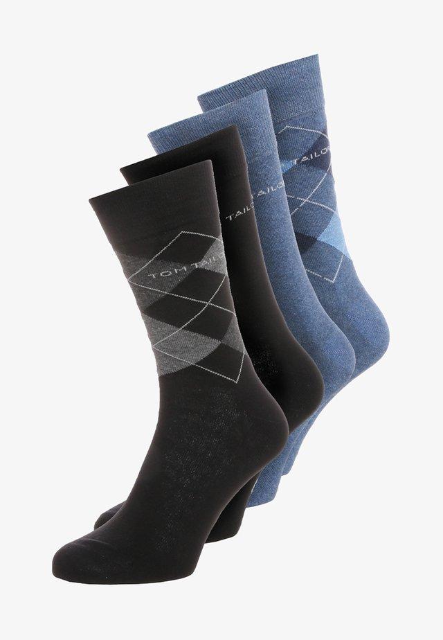 4 PACK - Skarpety - blau/schwarz