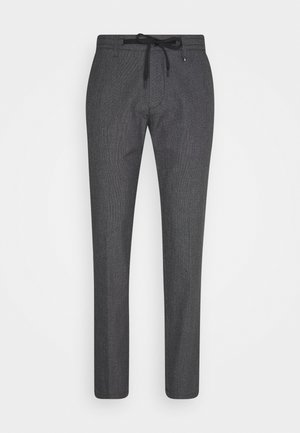 ELASTIC WAISTBAND DRAWSTRING  - Pantalon classique - black