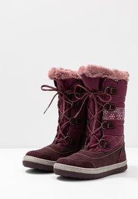 Lurchi - ALPY-TEX - Zimní obuv - aubergine - 3