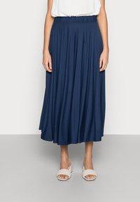 Esprit - SKIRT - A-line skirt - dark blue - 0