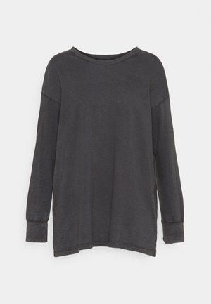Long sleeved top - smoked gray